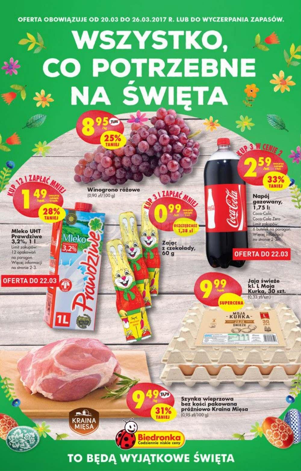 Gazetka promocyjna Biedronka do 26/03/2017 str.0