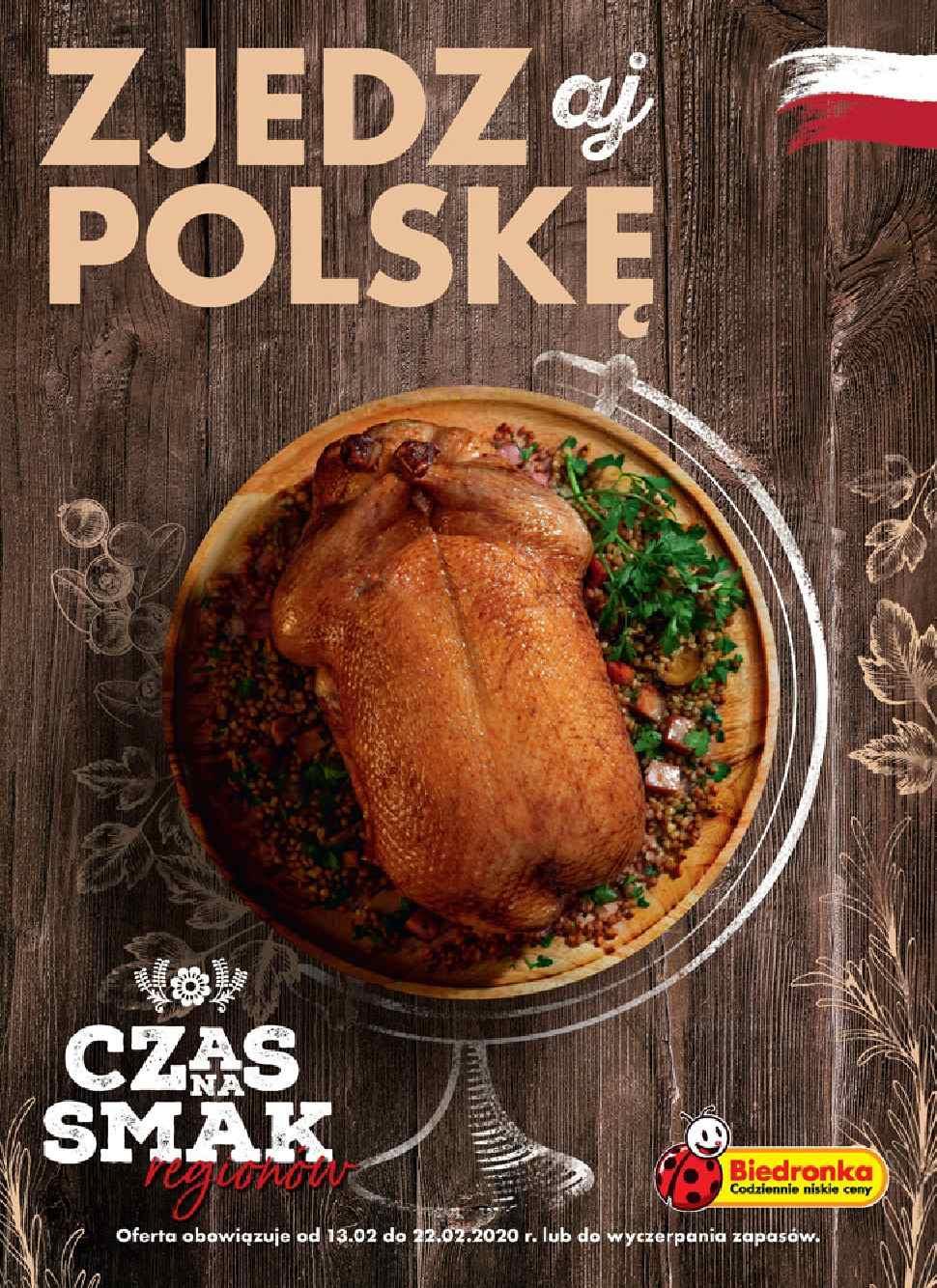 Gazetka promocyjna Biedronka do 22/02/2020 str.1
