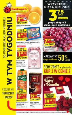 Biedronka gazetka - od 21/01/2019 do 27/01/2019