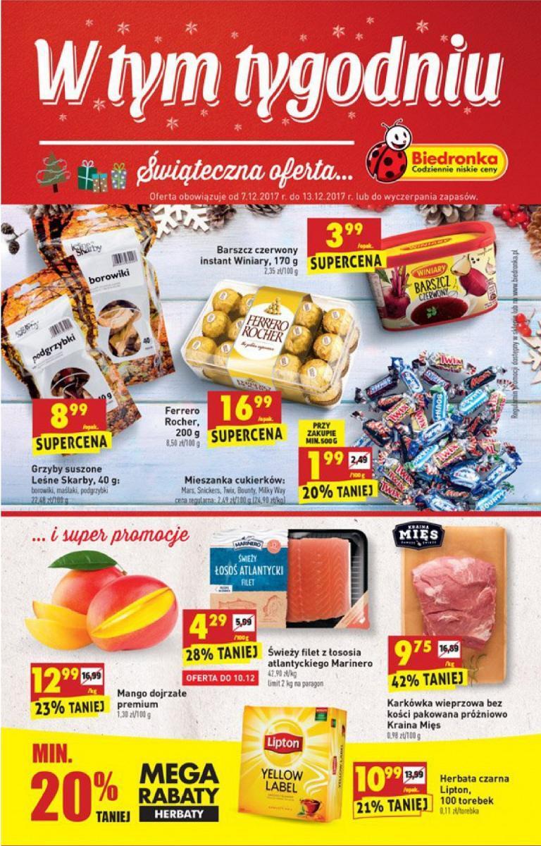 Gazetka promocyjna Biedronka do 13/12/2017 str.0