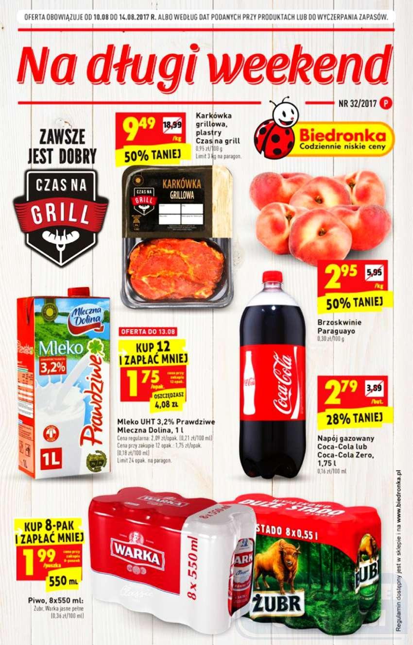 Gazetka promocyjna Biedronka do 16/08/2017 str.0