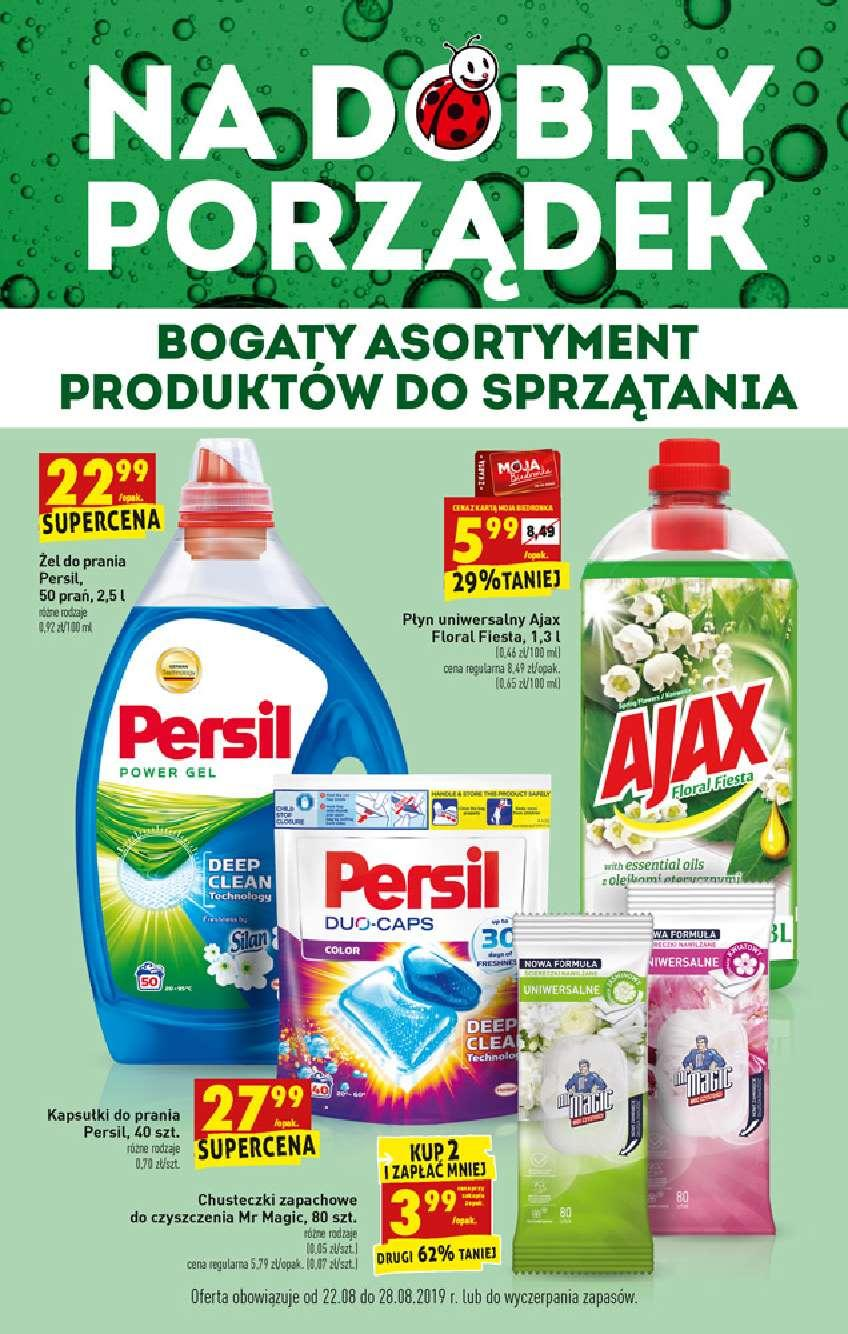 Gazetka promocyjna Biedronka do 28/08/2019 str.1