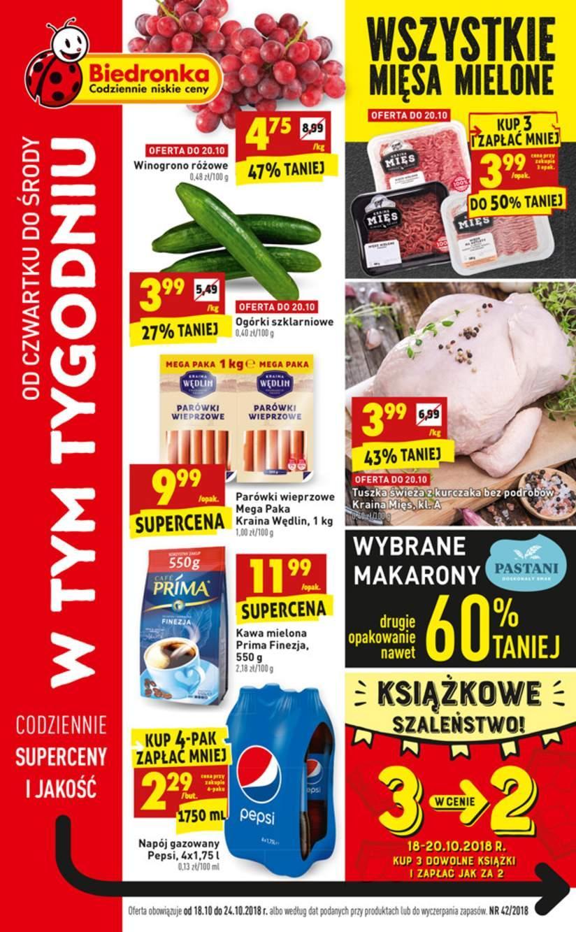 Gazetka promocyjna Biedronka do 24/10/2018 str.1