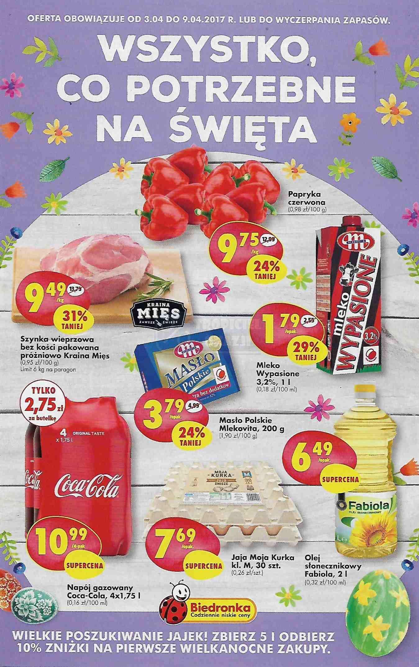 Gazetka promocyjna Biedronka do 09/04/2017 str.0