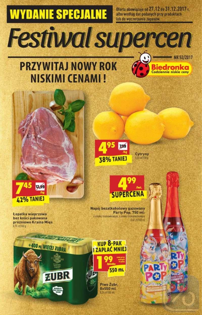 Gazetka promocyjna Biedronka do 31/12/2017 str.0