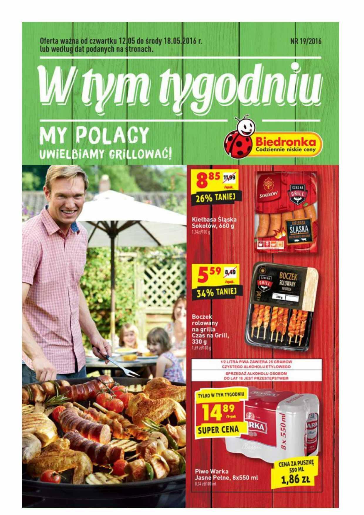 Gazetka promocyjna Biedronka do 18/05/2016 str.0