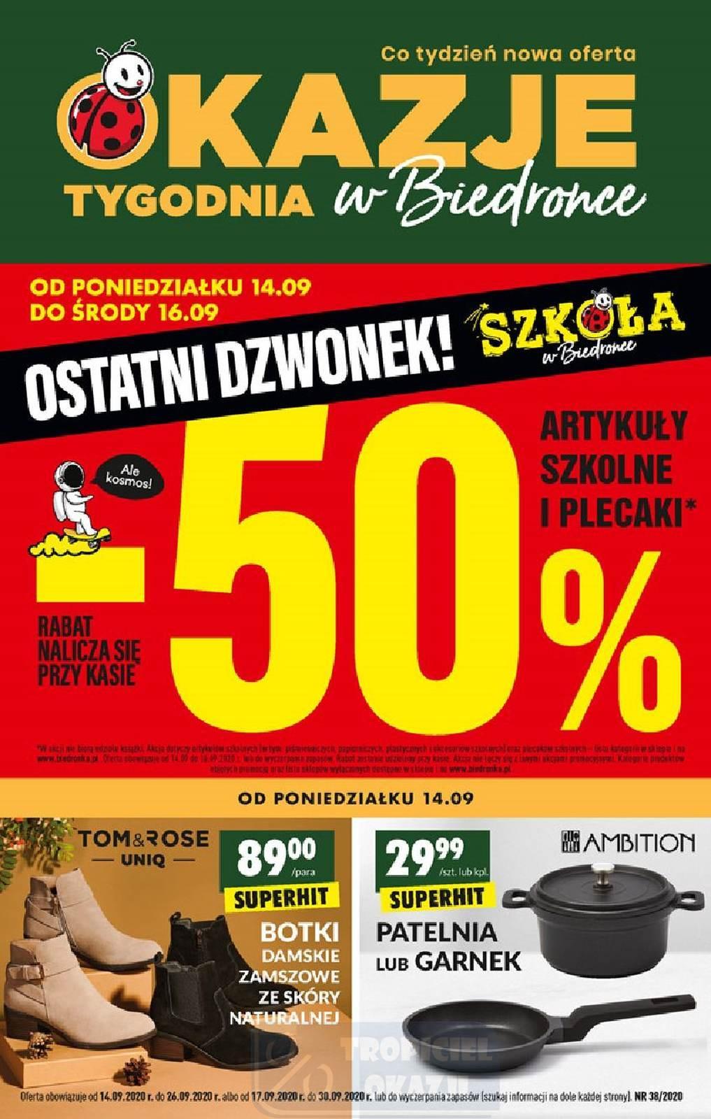 Gazetka promocyjna Biedronka do 26/09/2020 str.0