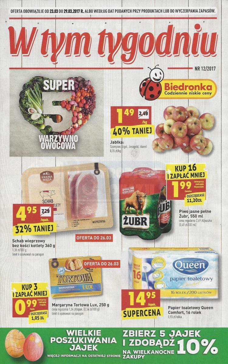 Gazetka promocyjna Biedronka do 29/03/2017 str.0