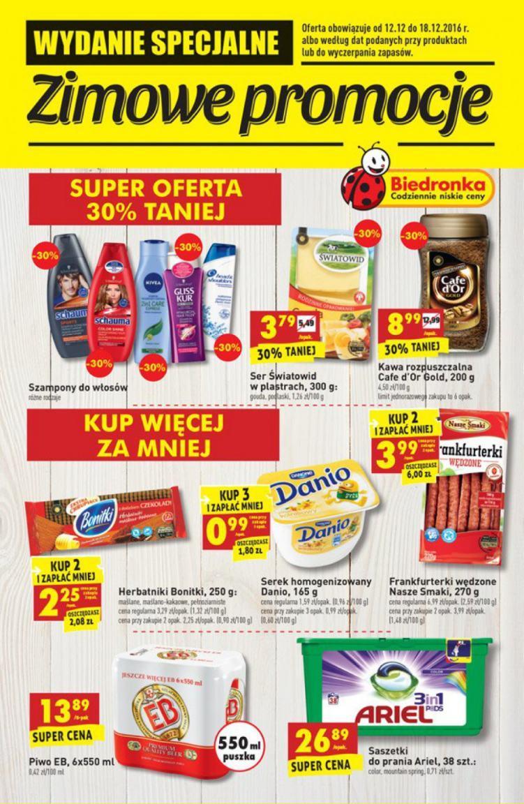 Gazetka promocyjna Biedronka do 18/12/2016 str.0