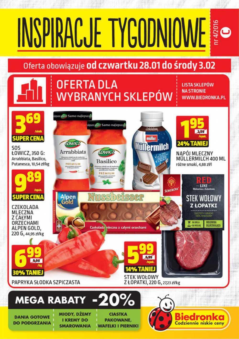 Gazetka promocyjna Biedronka do 03/02/2016 str.0