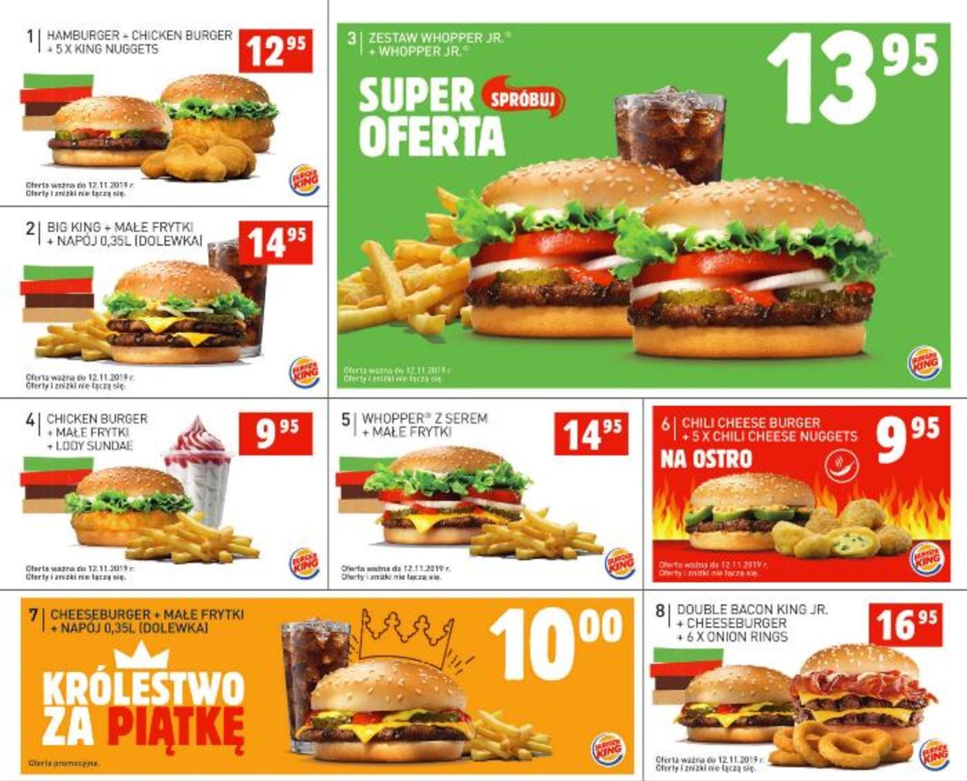 Gazetka promocyjna BURGER KING do 12/11/2019 str.1