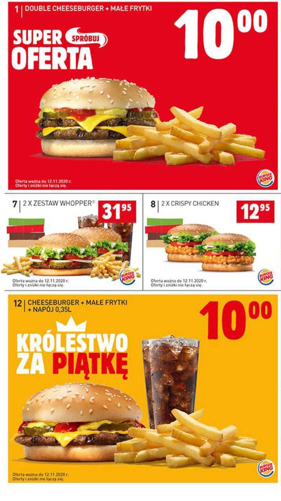 Gazetka promocyjna BURGER KING do 12/11/2020 str.1