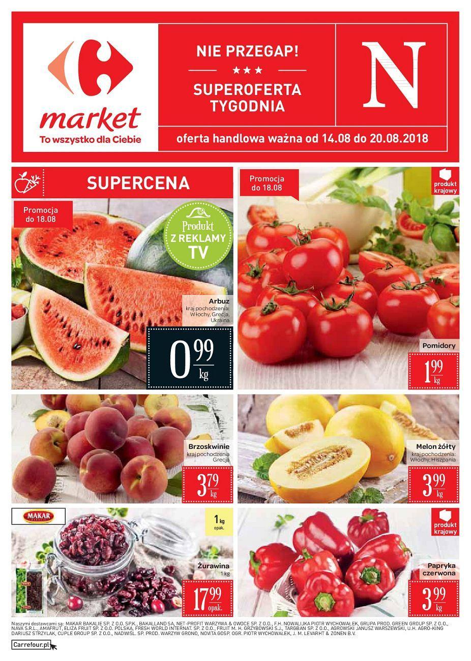 Gazetka promocyjna Carrefour Market do 20/08/2018 str.0