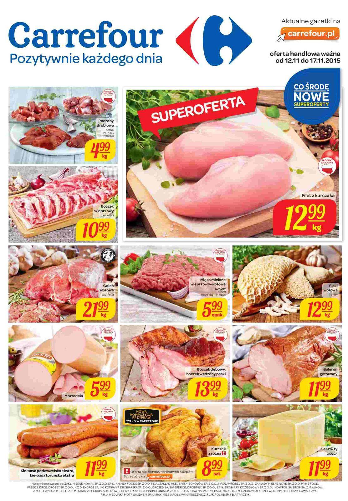 Gazetka promocyjna Carrefour do 17/11/2015 str.0