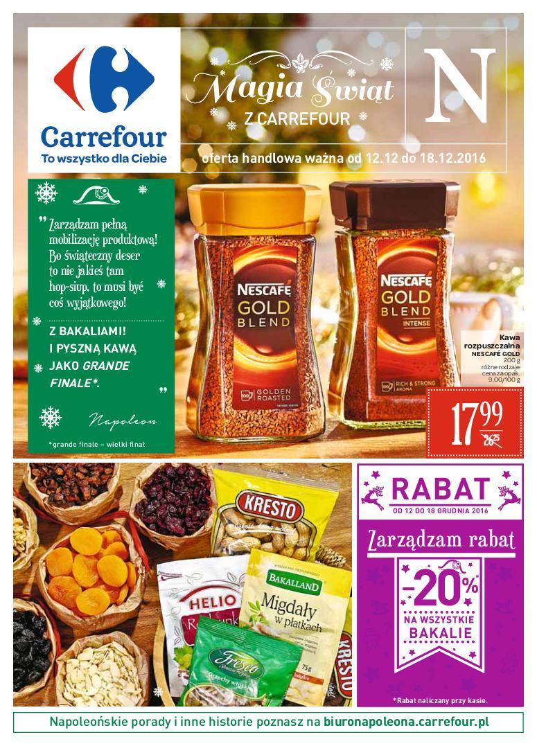 Gazetka promocyjna Carrefour do 18/12/2016 str.0