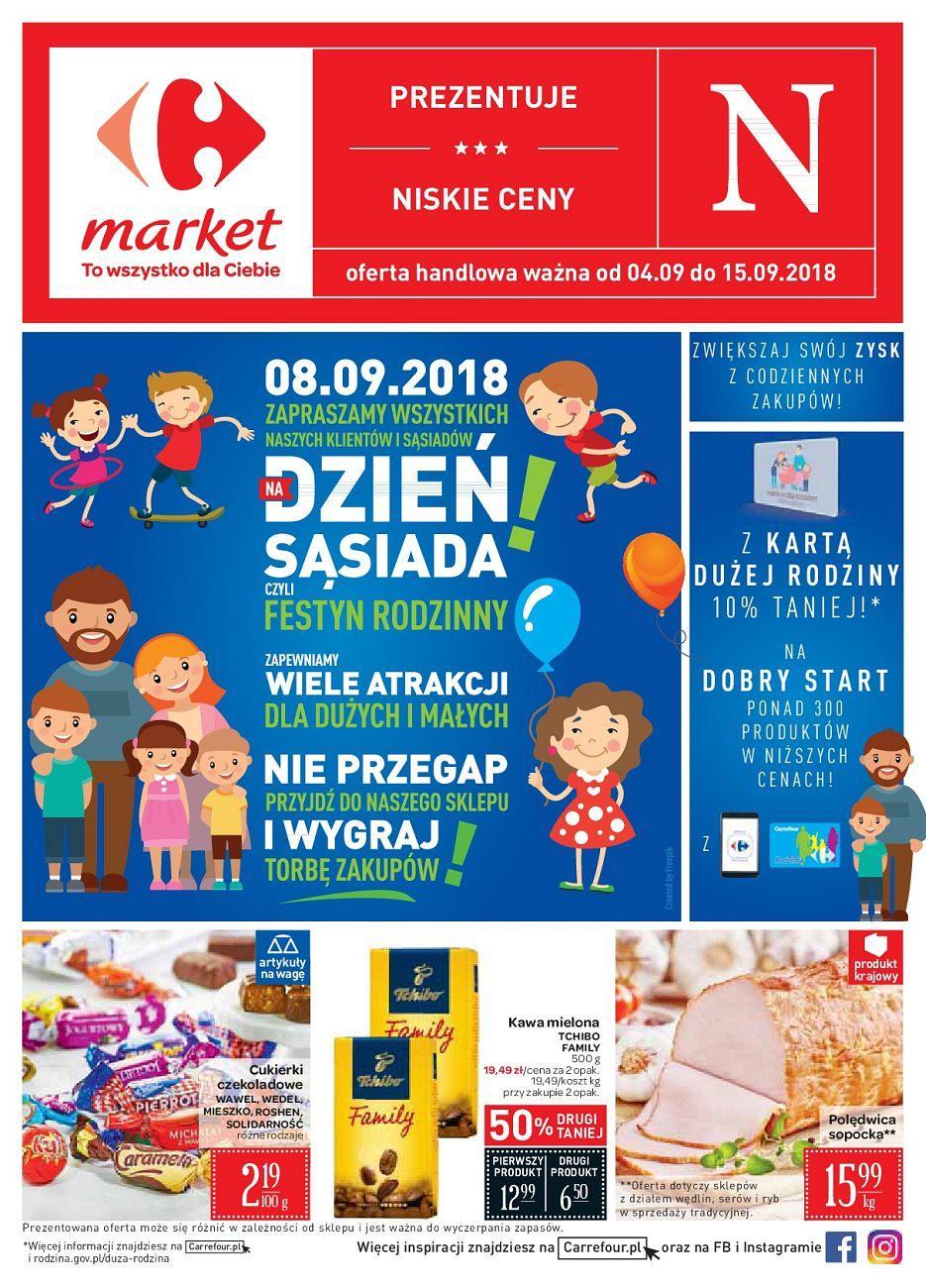 Gazetka promocyjna Carrefour Market do 15/09/2018 str.1