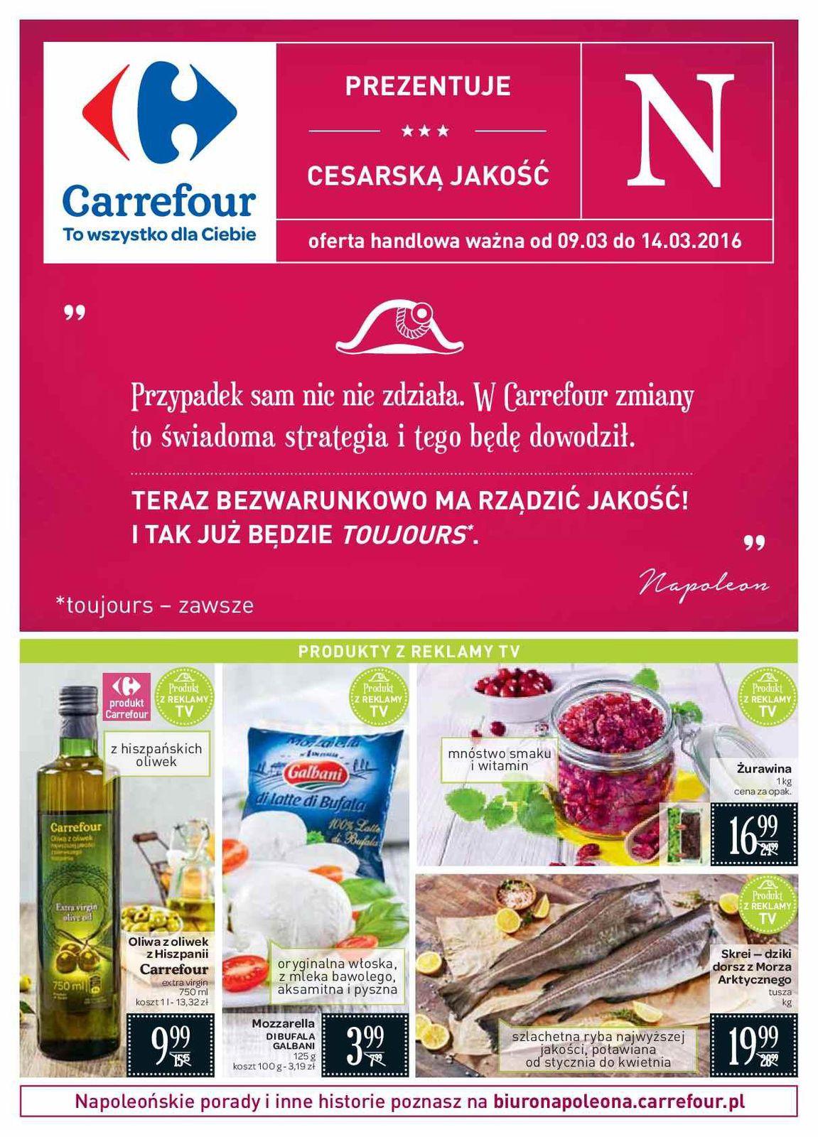Gazetka promocyjna Carrefour do 14/03/2016 str.0