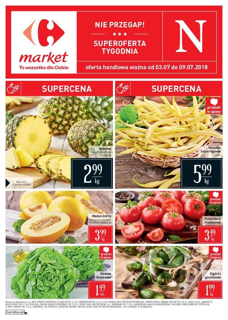 Gazetka promocyjna Carrefour Market do 09/07/2018 str.0