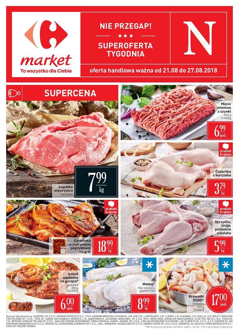 Gazetka promocyjna Carrefour Market do 27/08/2018 str.0