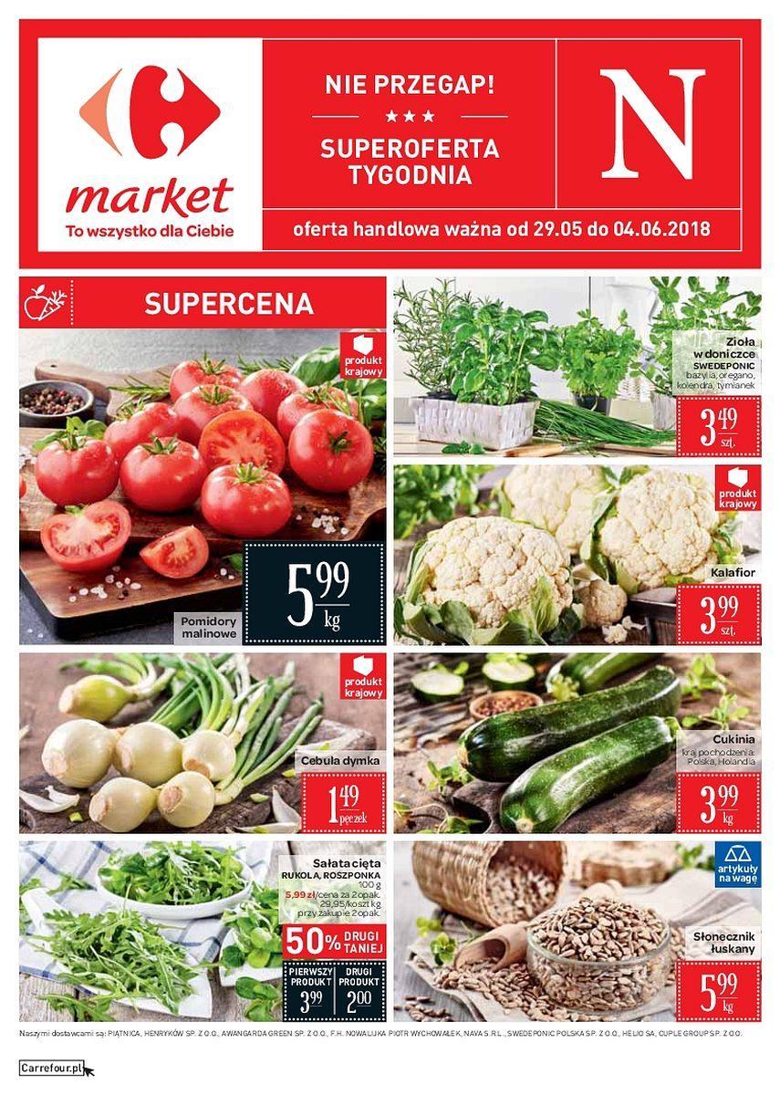 Gazetka promocyjna Carrefour Market do 04/06/2018 str.0
