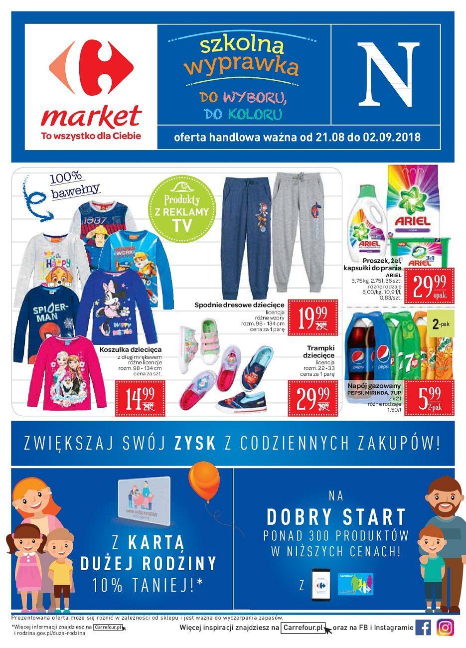 Gazetka promocyjna Carrefour Market do 02/09/2018 str.1