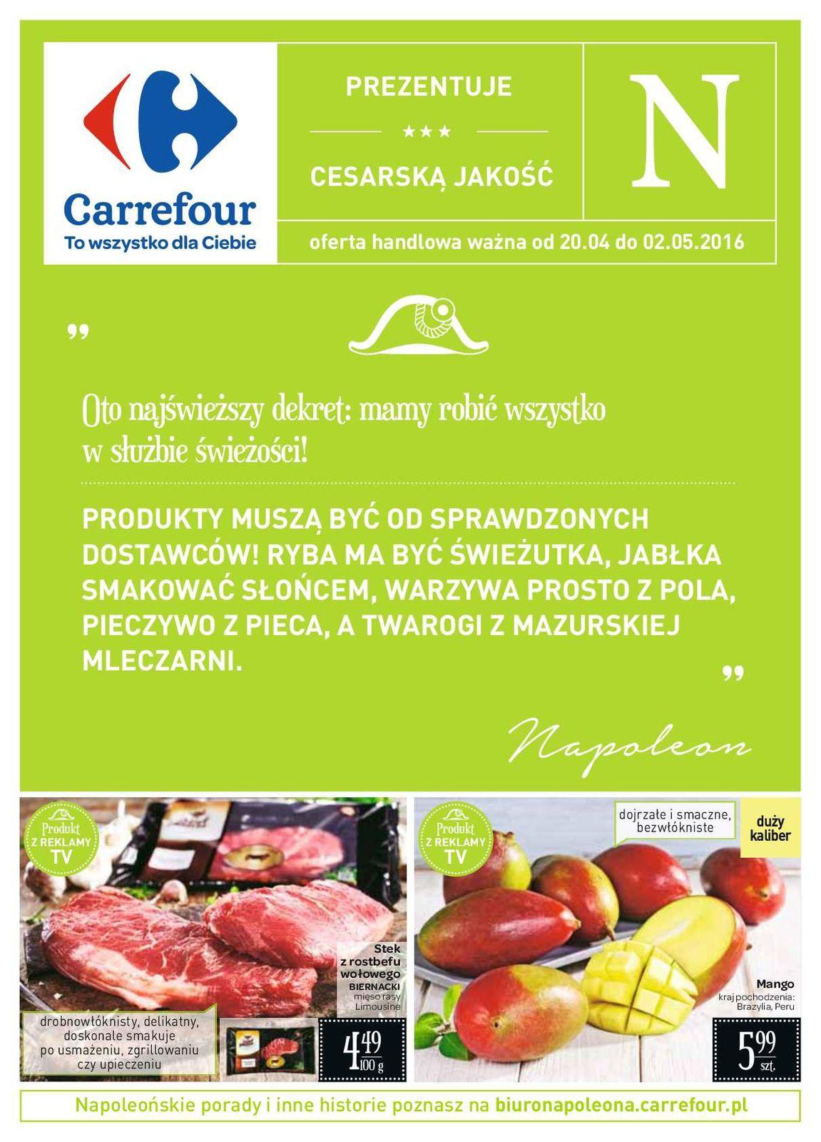 Gazetka promocyjna Carrefour do 02/05/2016 str.0