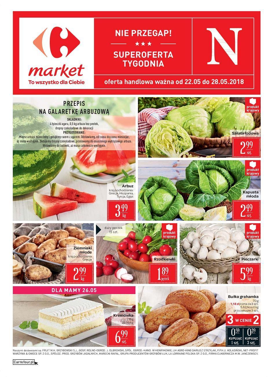 Gazetka promocyjna Carrefour Market do 28/05/2018 str.0