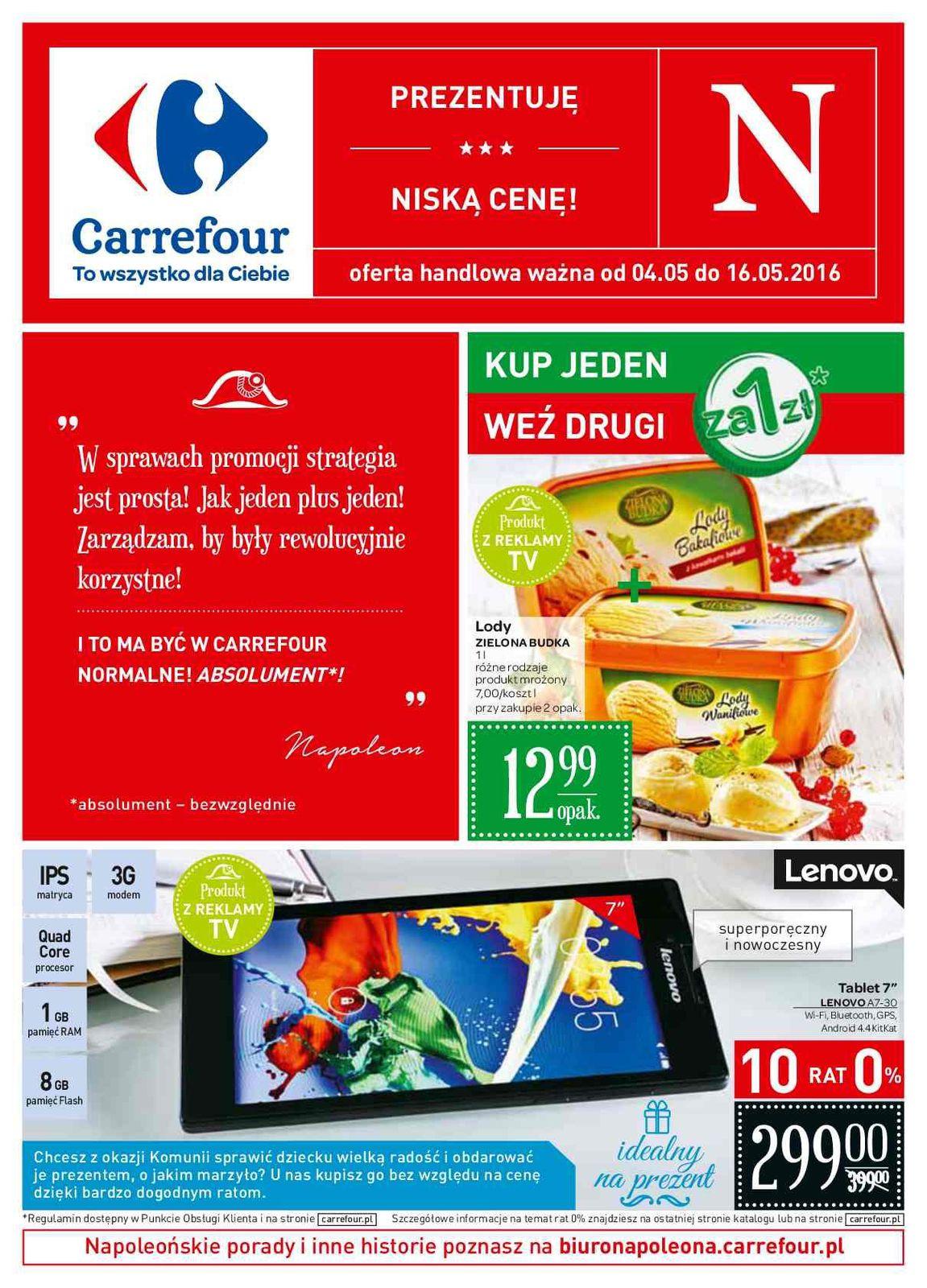 Gazetka promocyjna Carrefour do 16/05/2016 str.0