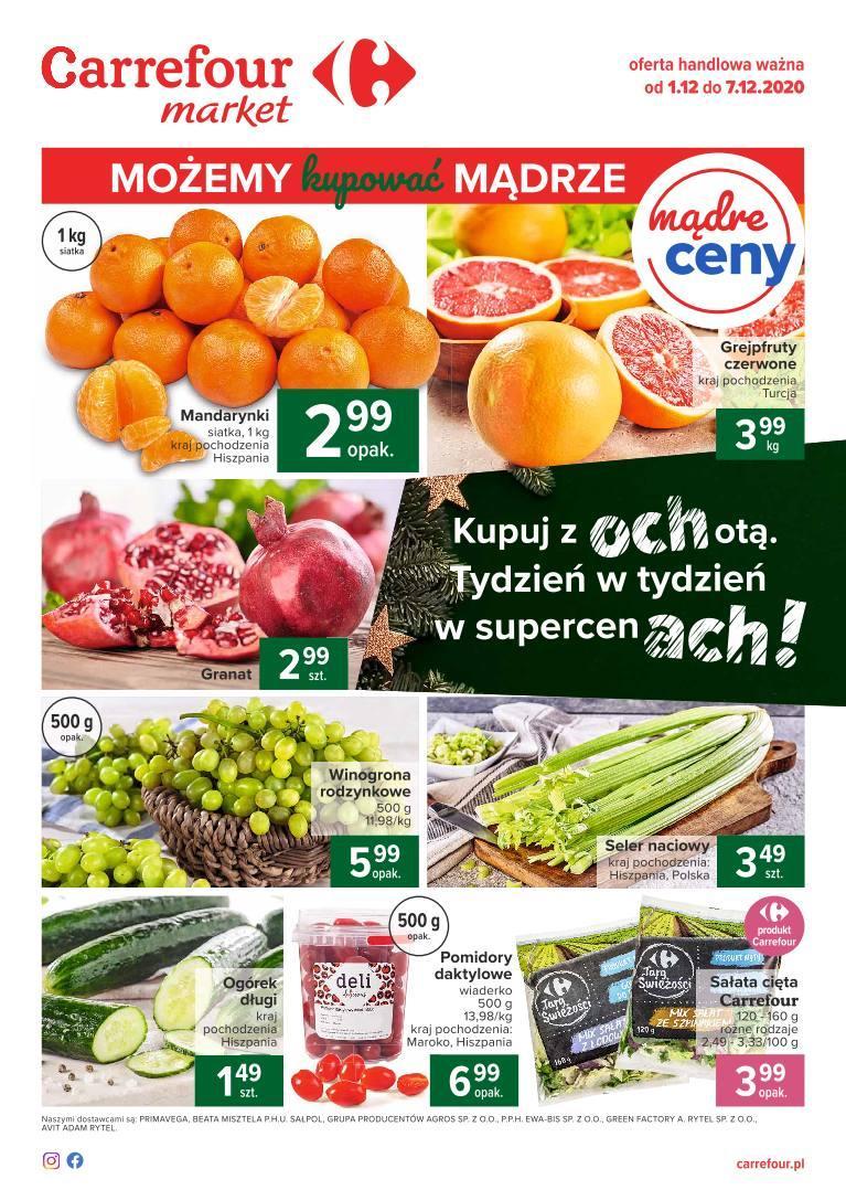 Gazetka promocyjna Carrefour do 07/12/2020 str.1