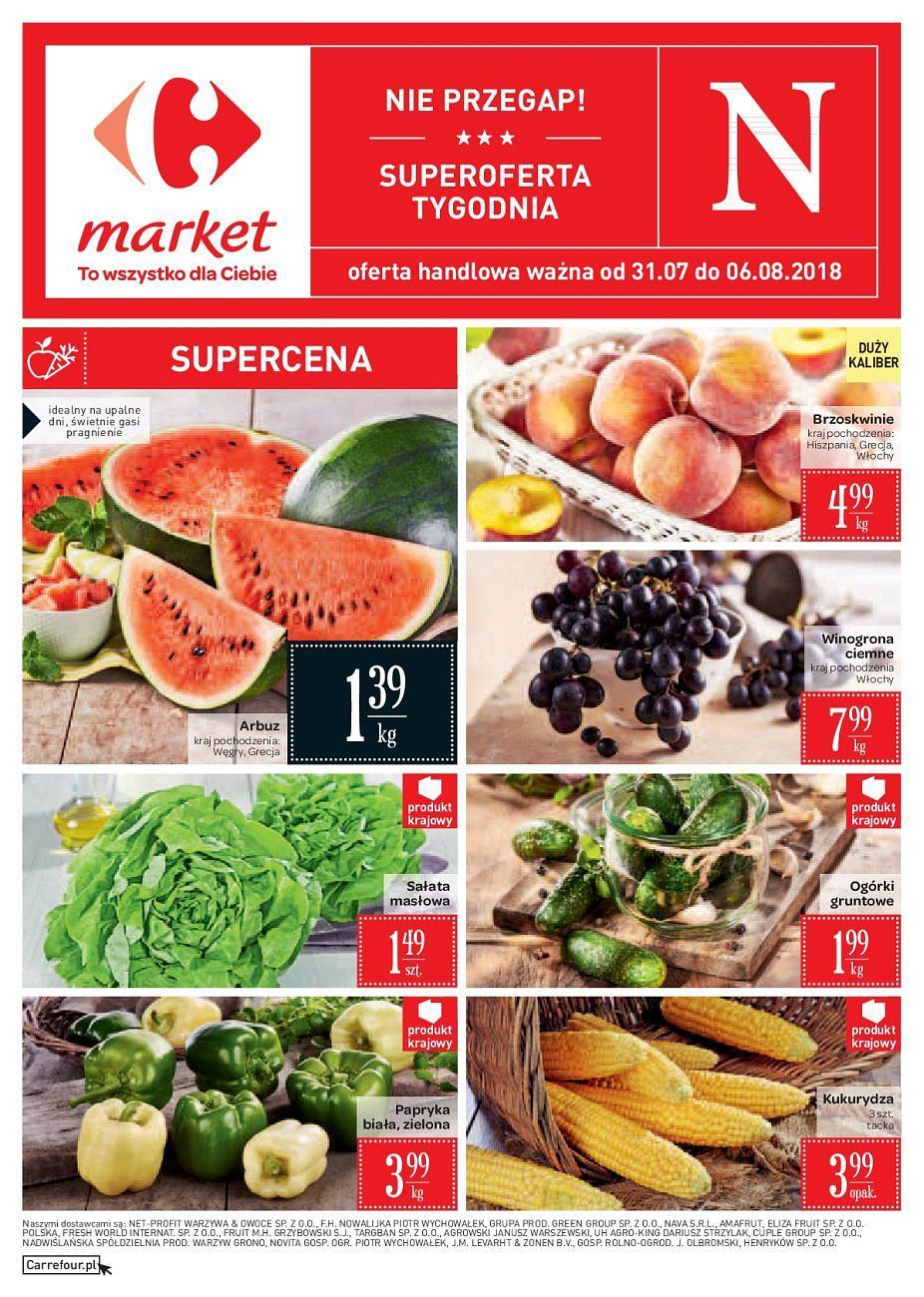 Gazetka promocyjna Carrefour Market do 06/08/2018 str.0