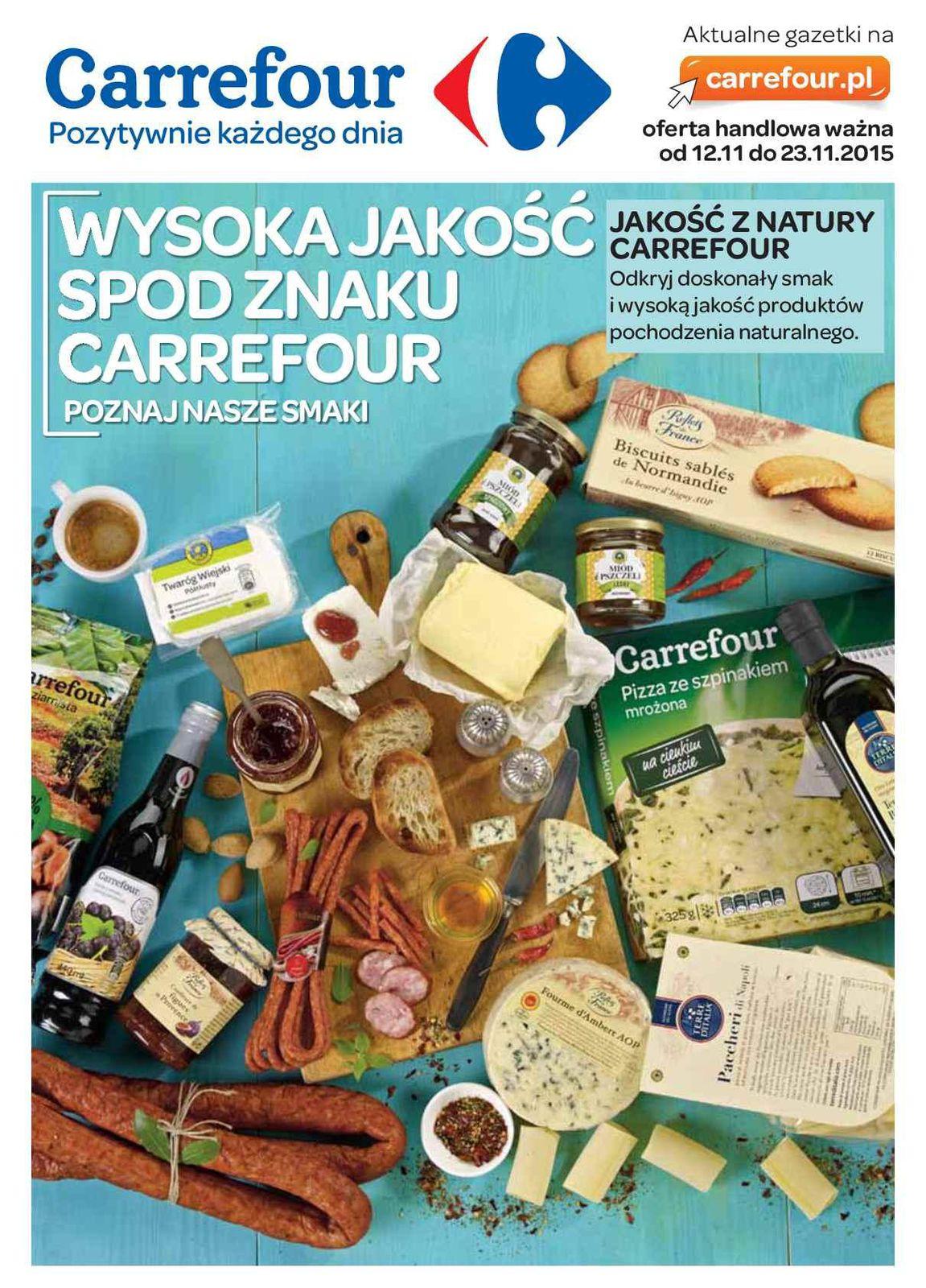 Gazetka promocyjna Carrefour do 23/11/2015 str.0