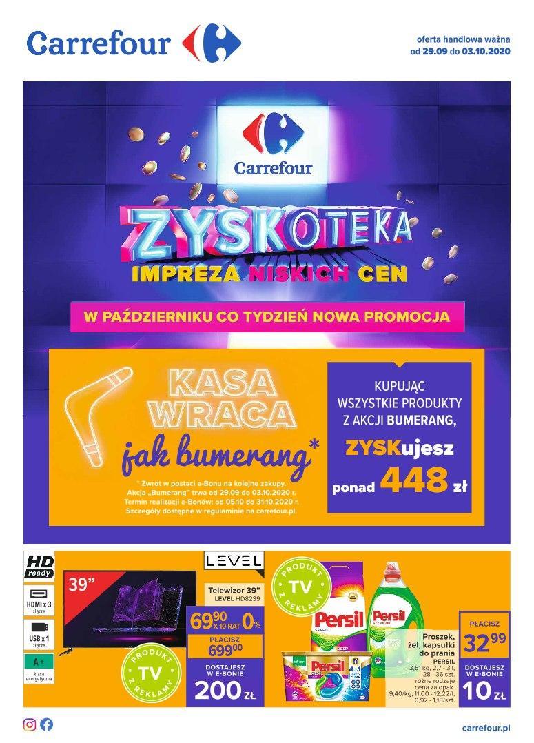 Gazetka promocyjna Carrefour do 03/10/2020 str.1