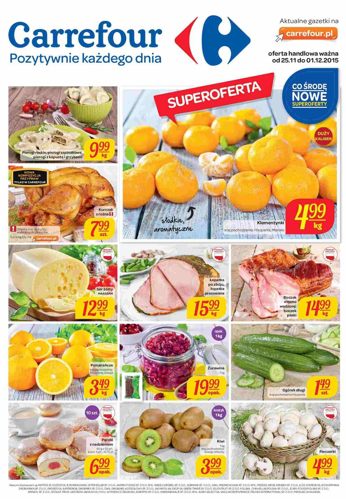 Gazetka promocyjna Carrefour do 01/12/2015 str.0