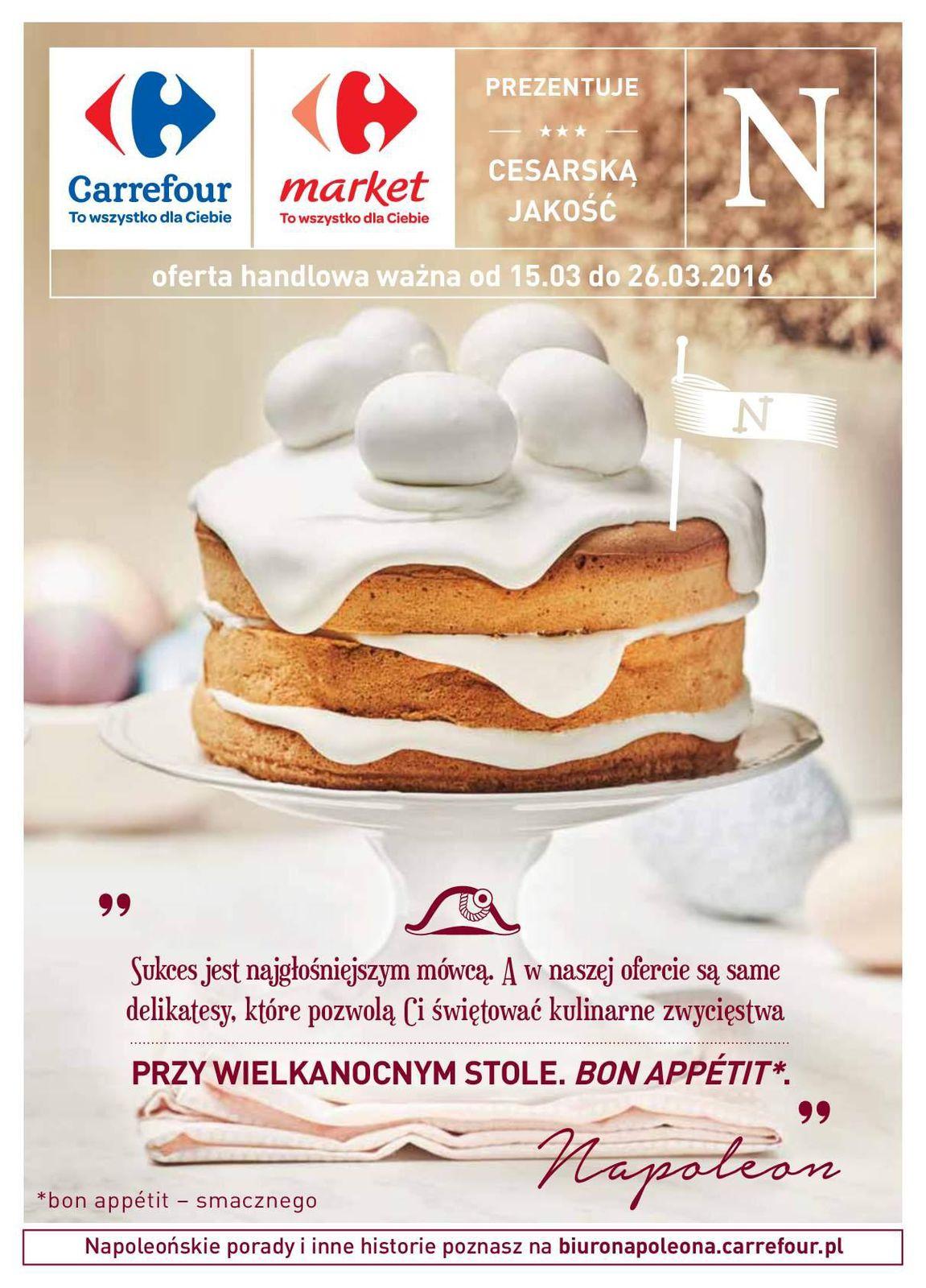 Gazetka promocyjna Carrefour do 26/03/2016 str.0