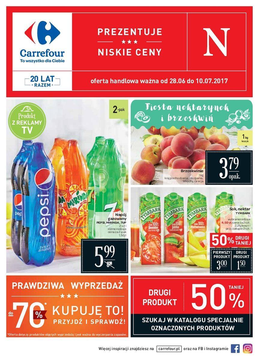 Gazetka promocyjna Carrefour do 10/07/2017 str.0