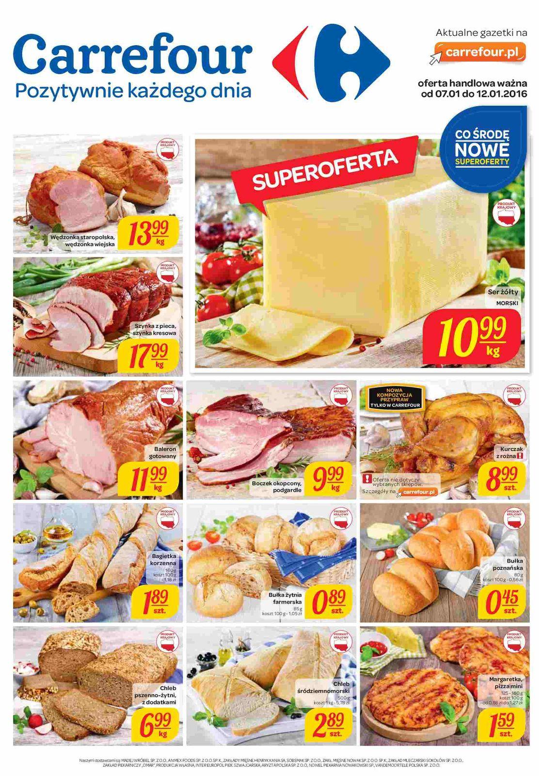 Gazetka promocyjna Carrefour do 12/01/2016 str.0