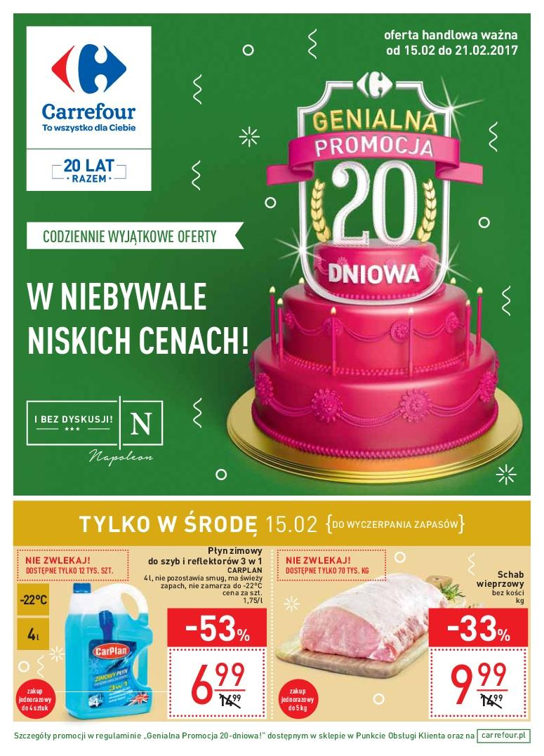 Gazetka promocyjna Carrefour do 21/02/2017 str.0