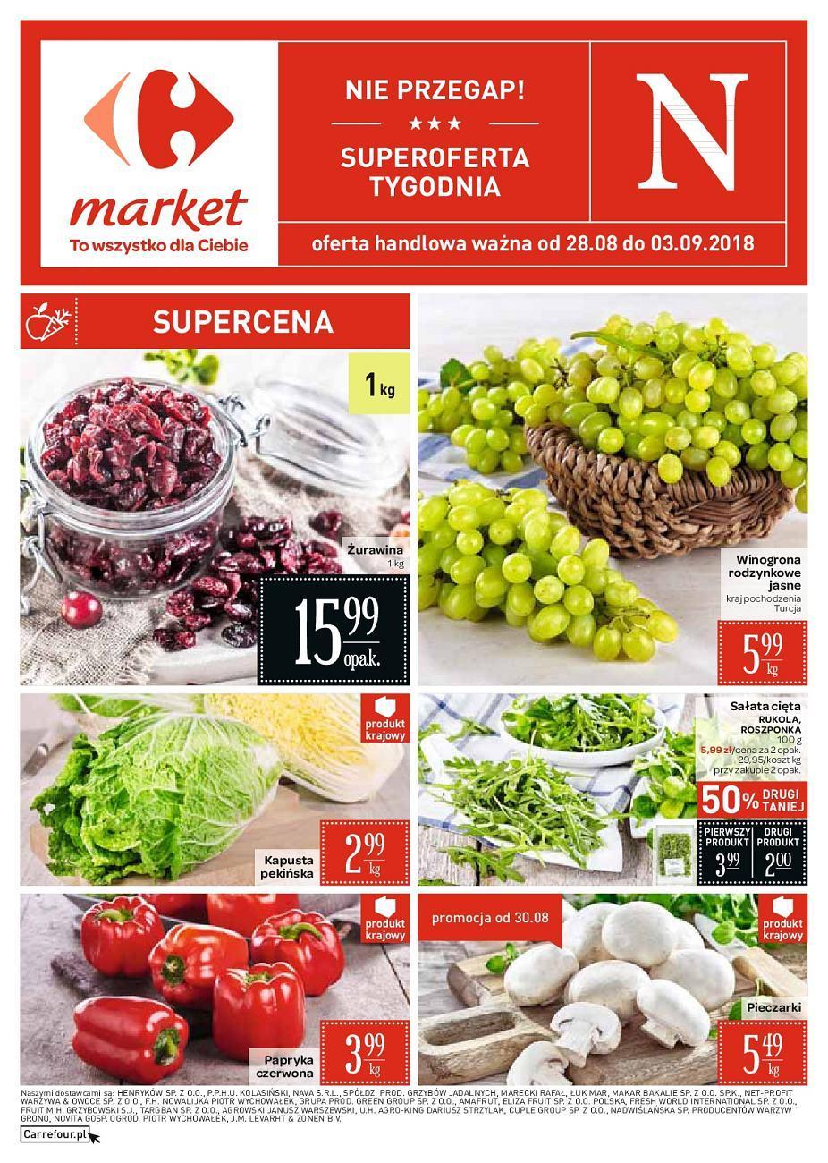 Gazetka promocyjna Carrefour Market do 03/09/2018 str.0