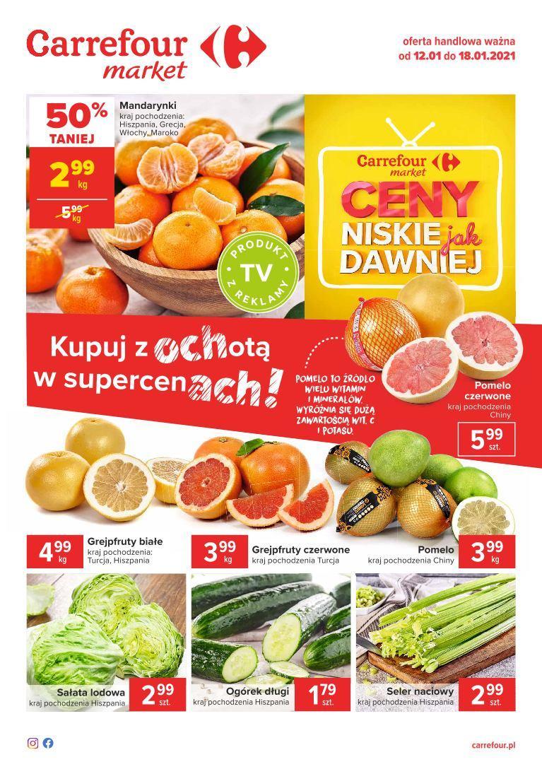 Gazetka promocyjna Carrefour Market do 18/01/2021 str.1