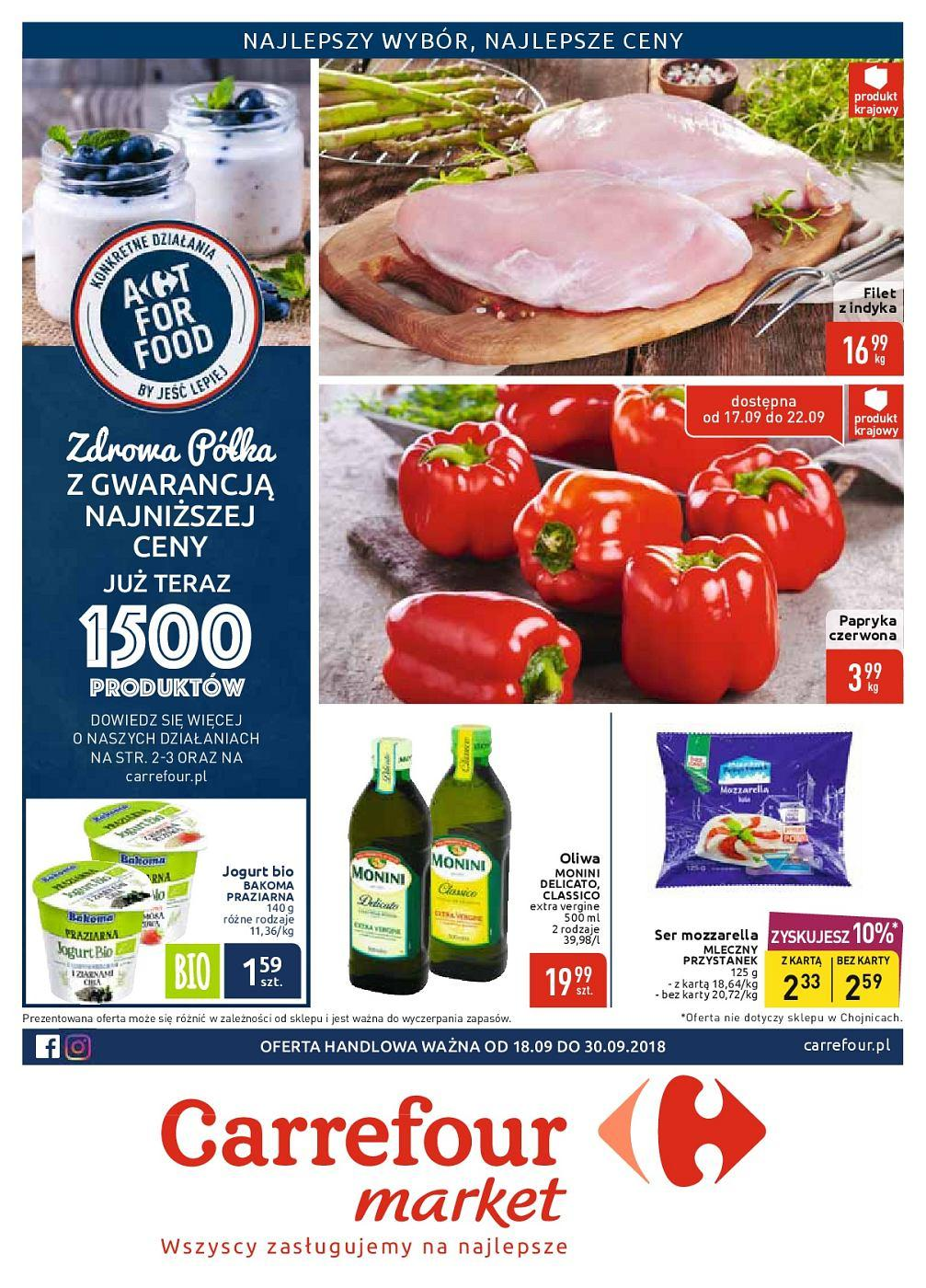 Gazetka promocyjna Carrefour Market do 30/09/2018 str.1