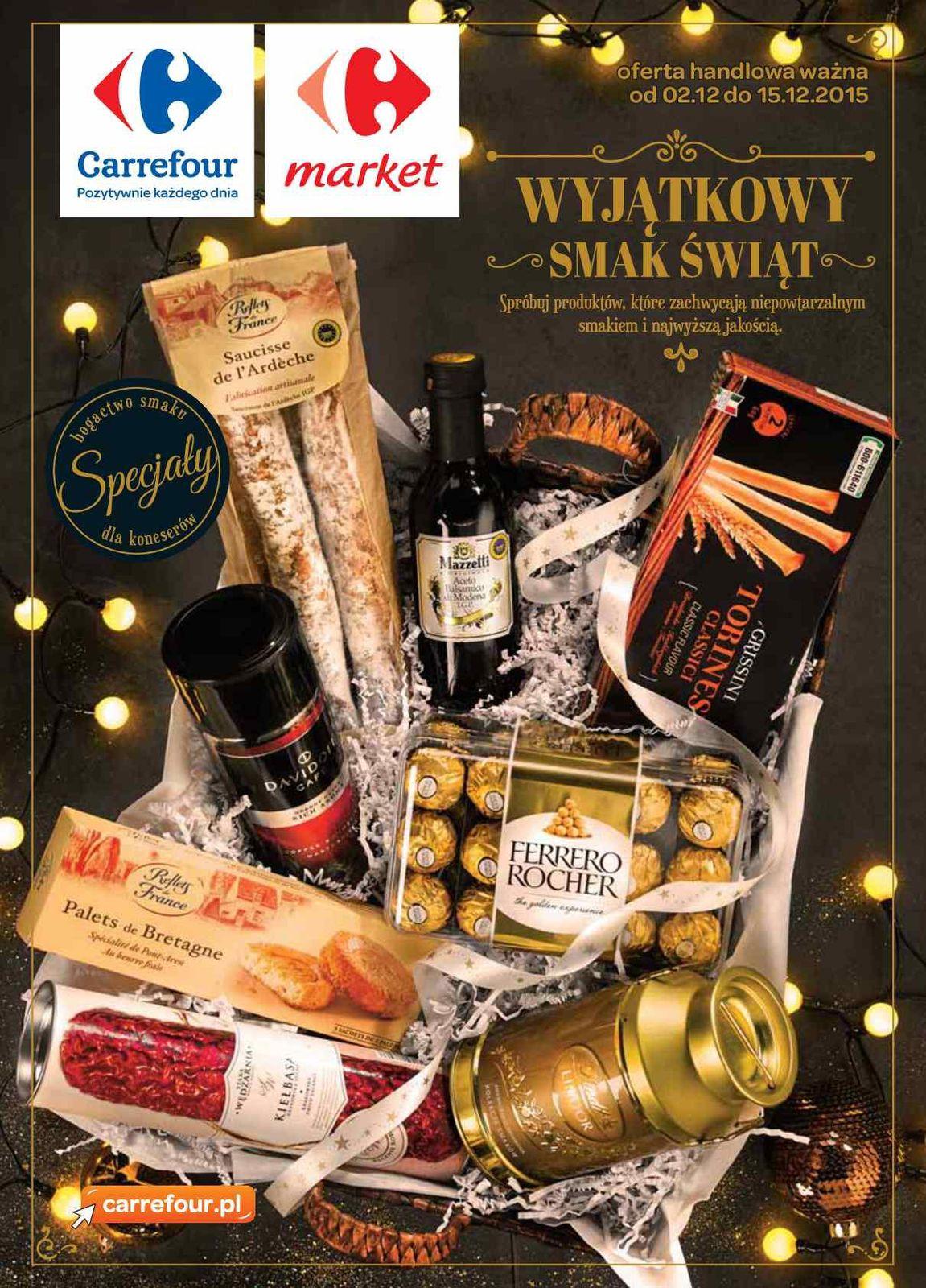 Gazetka promocyjna Carrefour do 15/12/2015 str.0