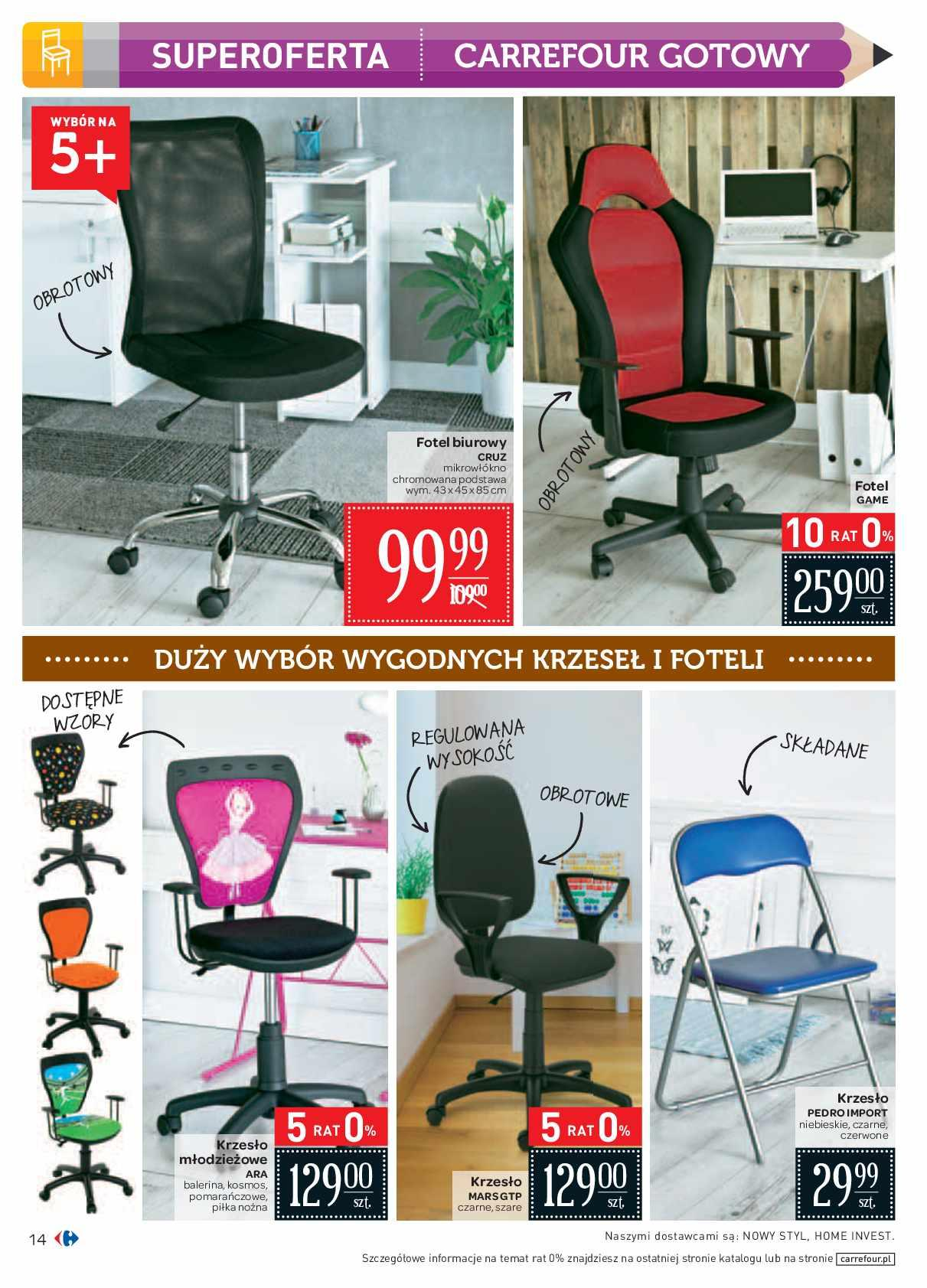 krzesło biurowe carfour