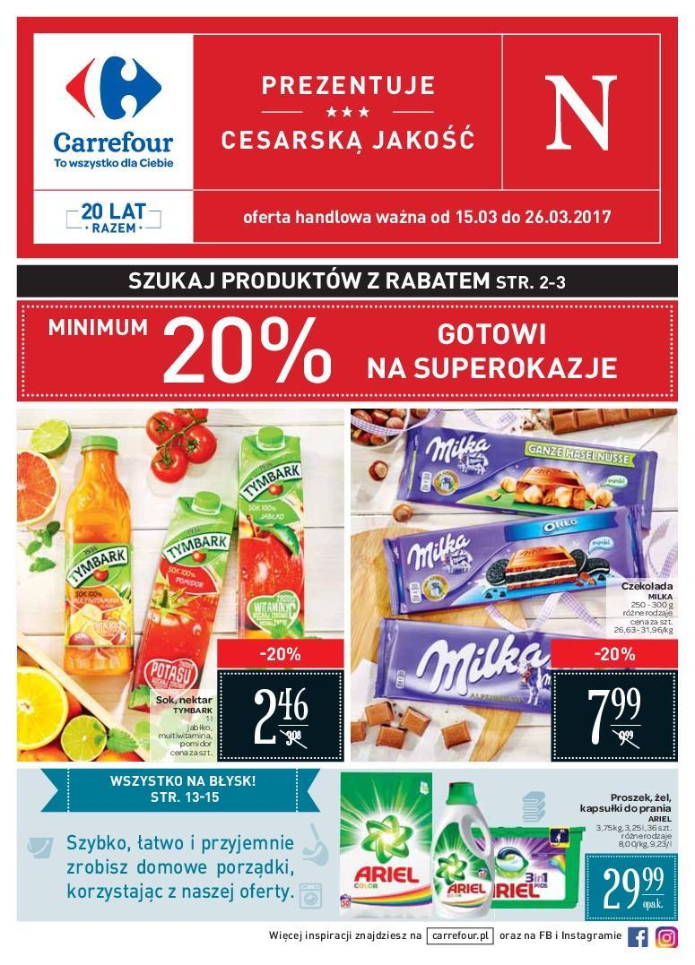 Gazetka promocyjna Carrefour do 26/03/2017 str.0