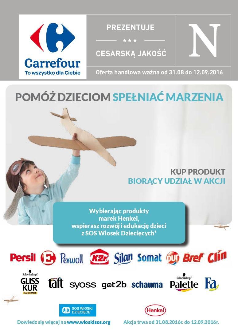 Gazetka promocyjna Carrefour do 12/09/2016 str.0