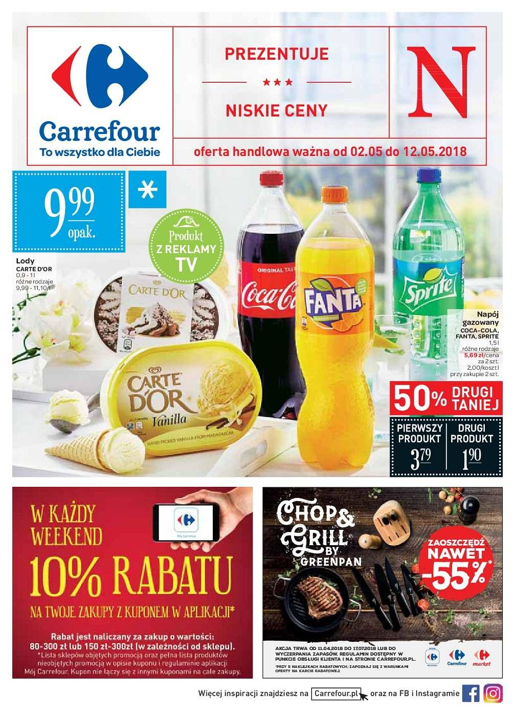 Gazetka promocyjna Carrefour do 12/05/2018 str.0