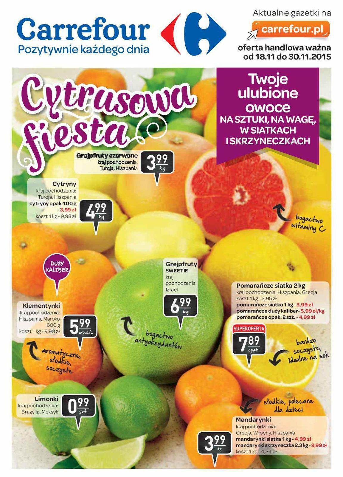 Gazetka promocyjna Carrefour do 30/11/2015 str.0