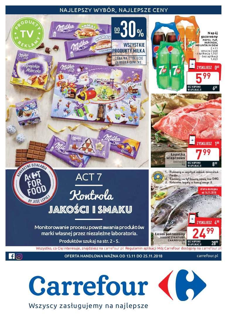 Gazetka promocyjna Carrefour do 25/11/2018 str.1