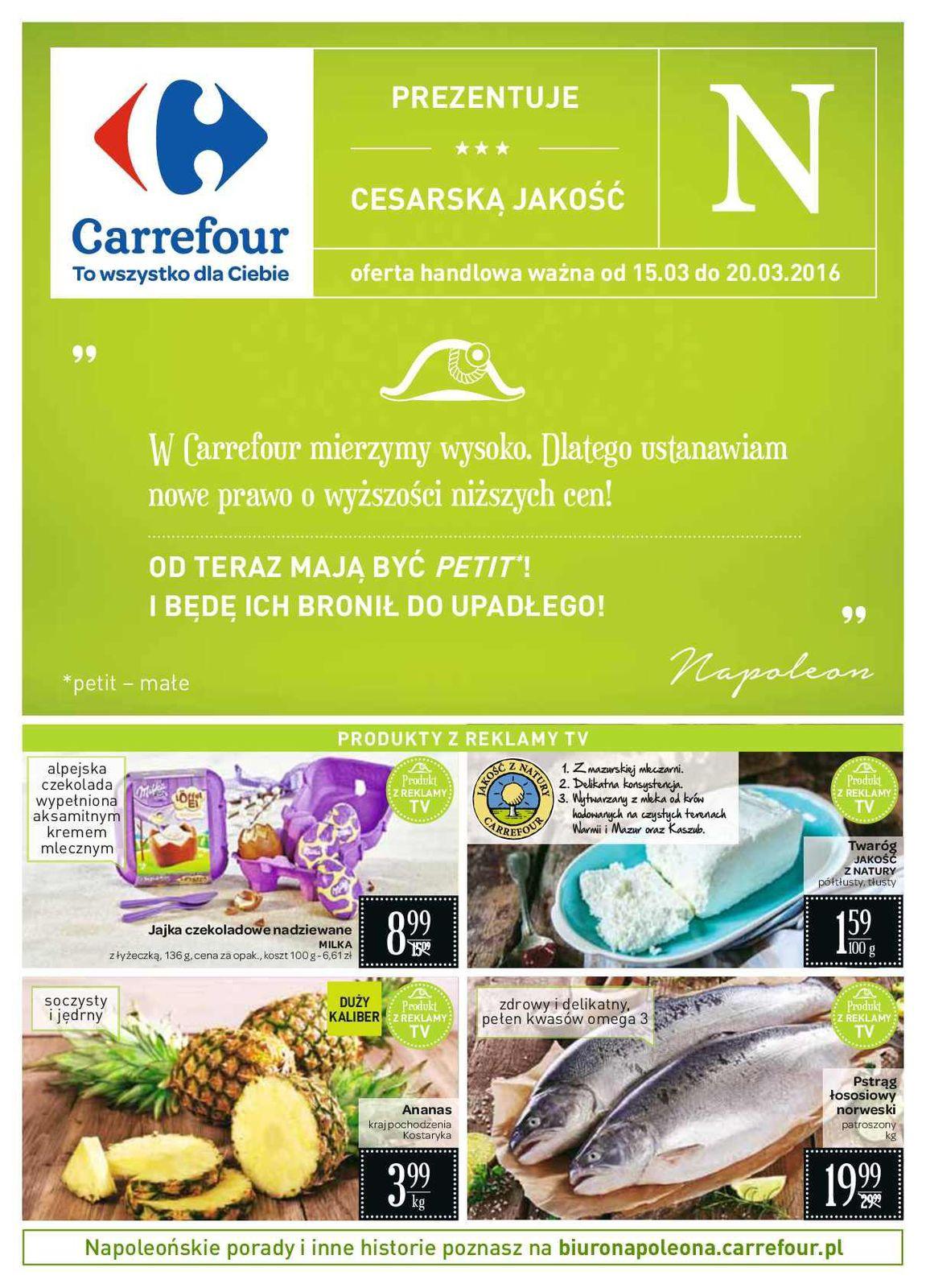 Gazetka promocyjna Carrefour do 20/03/2016 str.0