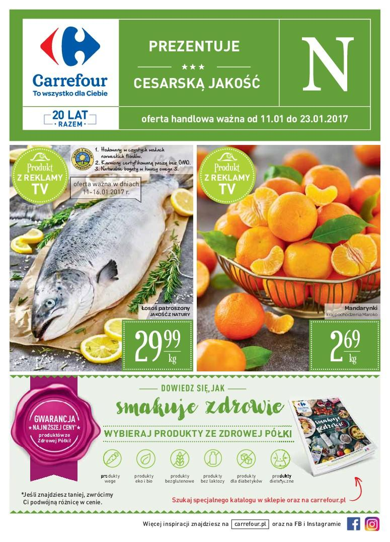 Gazetka promocyjna Carrefour do 23/01/2017 str.0