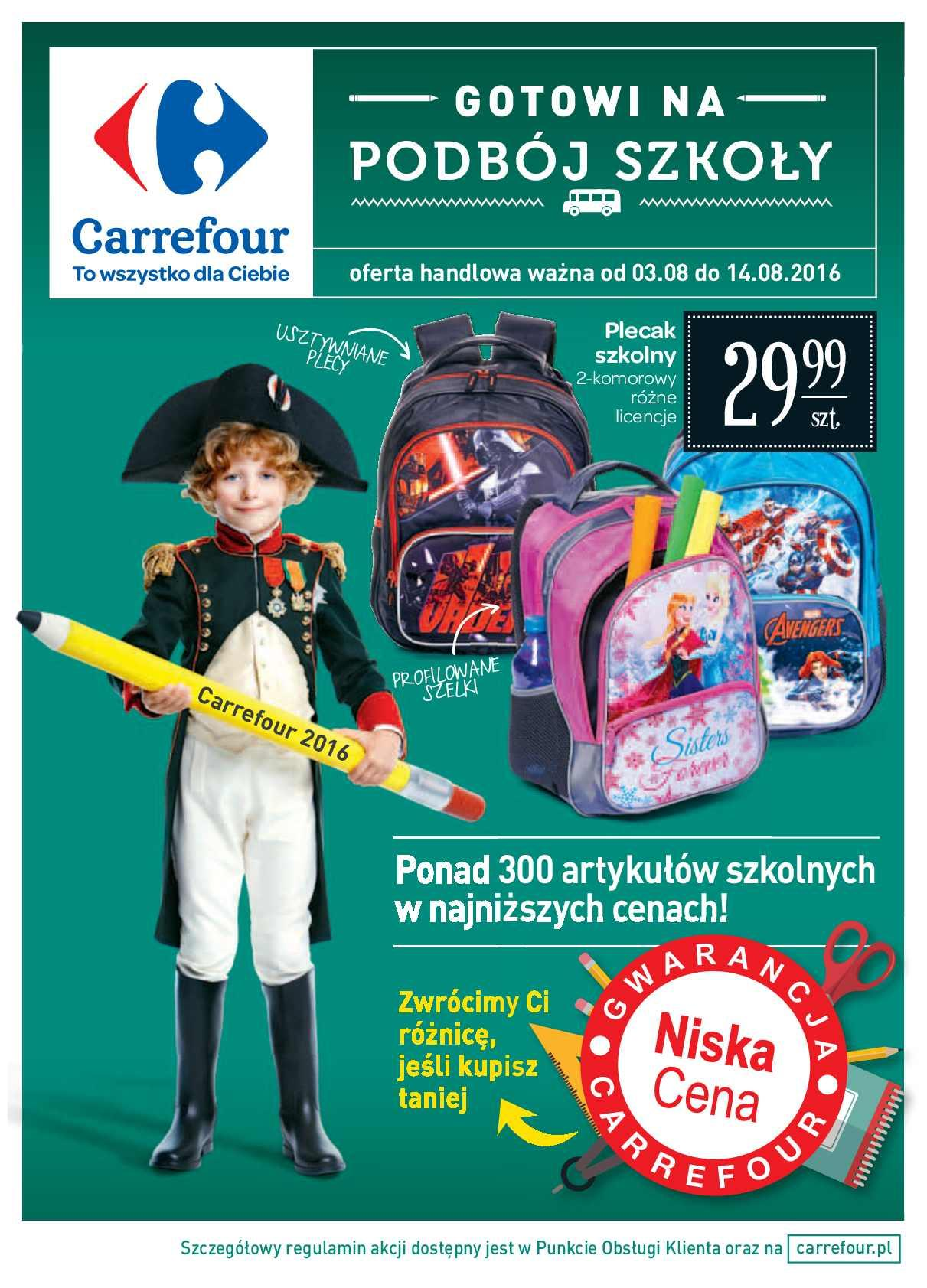 Gazetka promocyjna Carrefour do 14/08/2016 str.0